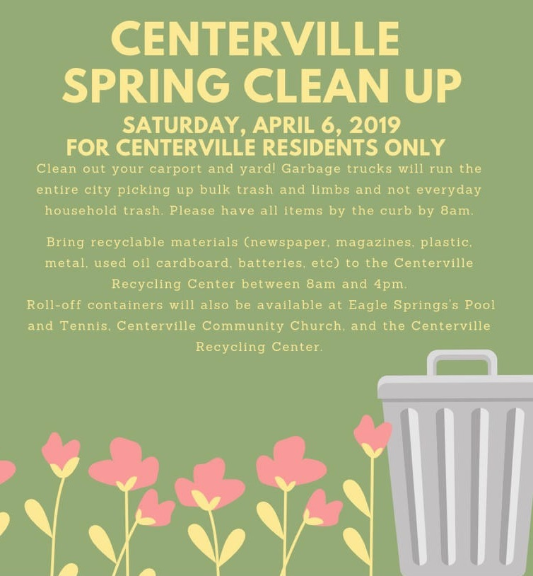 April 6th 2019 Centerville Spring Clean Up